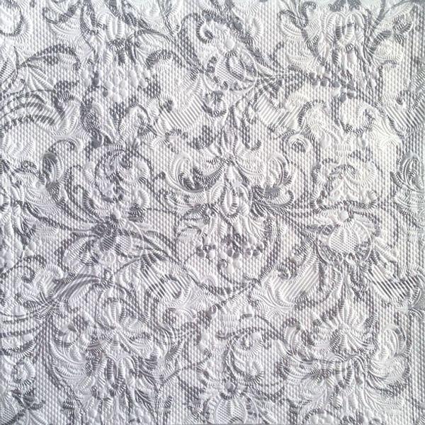 Guardanapo-Decoupage-Ambiente-13307386-Elegance-Damask-White-Silver-2-unidades