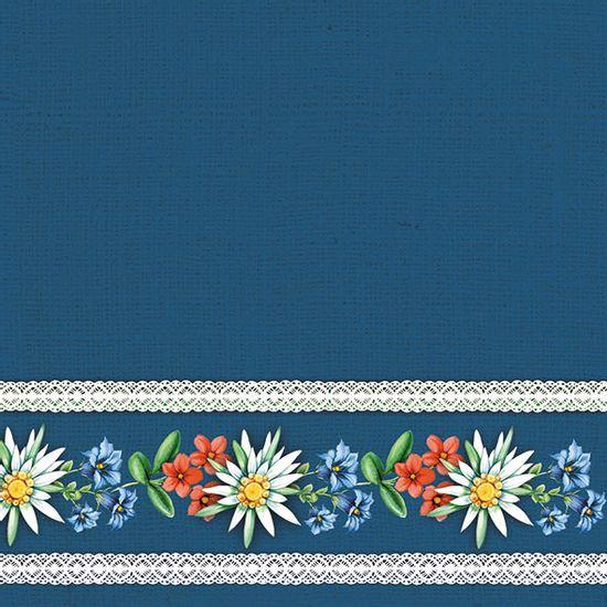 Guardanapo-Decoupage-Ambiente-13312882-Bavarian-Flowers-Blue-2-unidades