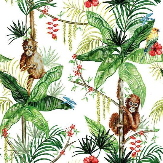 Guardanapo-Decoupage-Ambiente-13314221-Orangutan-White-2-unidades
