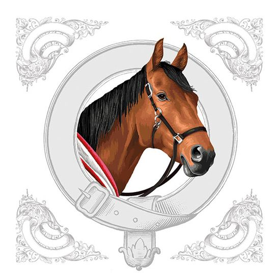 Guardanapo-Decoupage-Ambiente-13314995-Classic-Horse-2-unidades