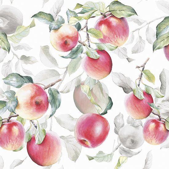 Guardanapo-Decoupage-Ambiente-13315631-Fresh-Apples-White-2-unidades