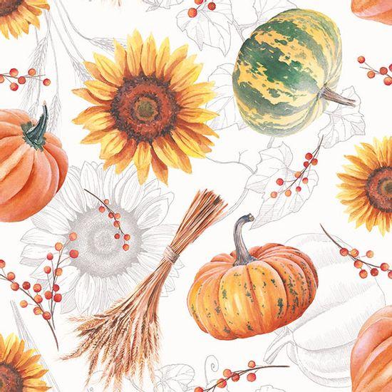 Guardanapo-Decoupage-Ambiente-13315635-Pumpkins---Sunflowers-2-unidades