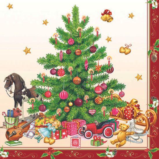 Guardanapo-Decoupage-Ambiente-33303520-Nostalgic-Christmas-Tree-2-unidades