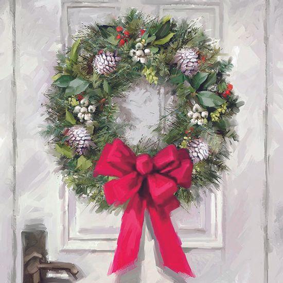 Guardanapo-Decoupage-Ambiente-33310680-White-Wreath-2-unidades