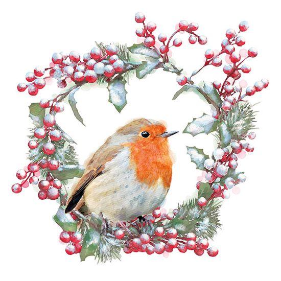 Guardanapo-Decoupage-Ambiente-33315535-Robin-In-Wreath-2-unidades