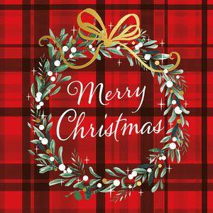 Guardanapo-Decoupage-Ambiente-33315565-Christmas-Plaid-Red-2-unidades