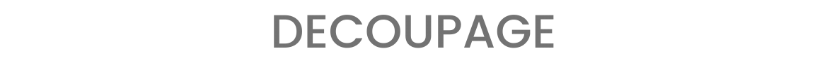Decoupage - Banner Nome