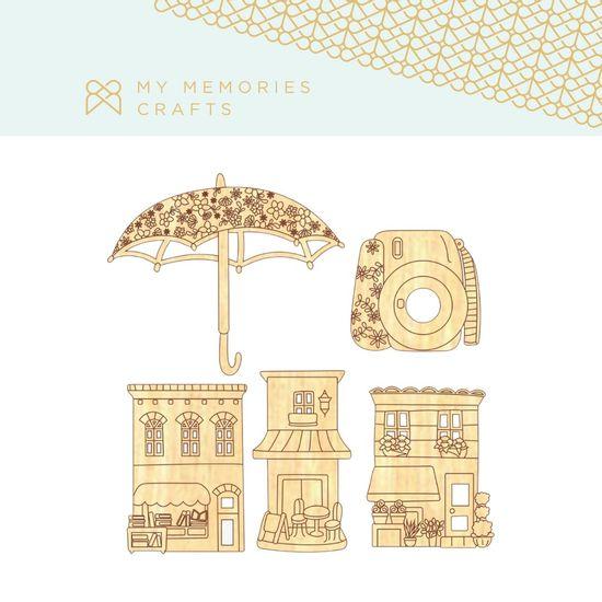 Kit-Apliques-em-Madeira-Adesivados-My-Memories-Crafts-MMCMCT-010-Cidade
