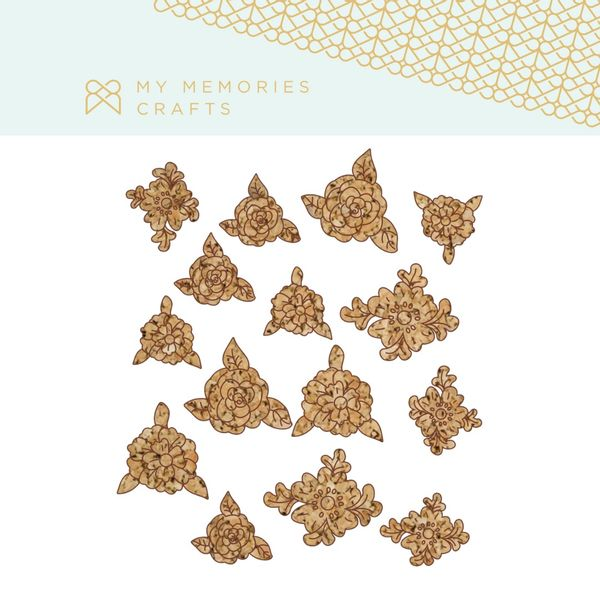 Kit-Apliques-de-Cortica-Adesivados-My-Memories-Crafts--MMCMCT-012-Flores