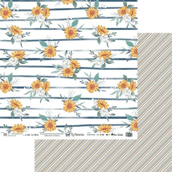 Papel-Scrapbook-My-Memories-Crafts-305x305-MMCMM2-004-Margaridas-e-Listras