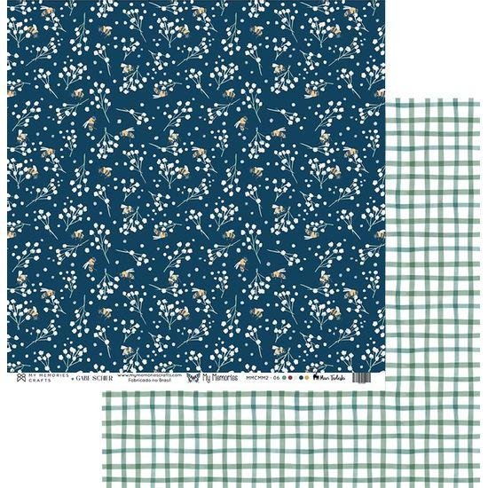 Papel-Scrapbook-My-Memories-Crafts-305x305-MMCMM2-006-Flores-e-Xadrez