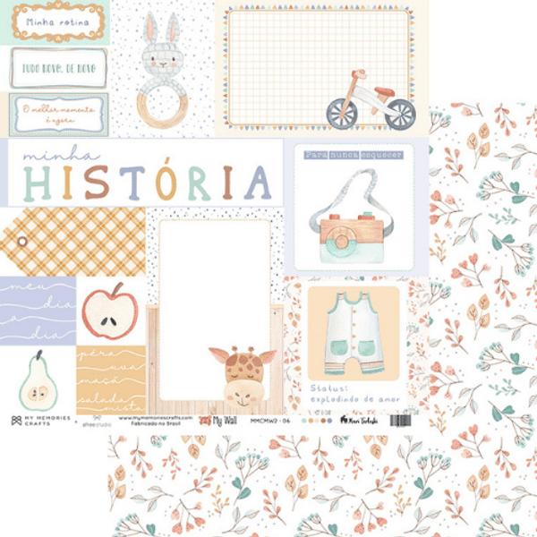 Papel-Scrapbook-My-Memories-Crafts-305x305-MMCMW2-006-Minha-Historia-e-Flores