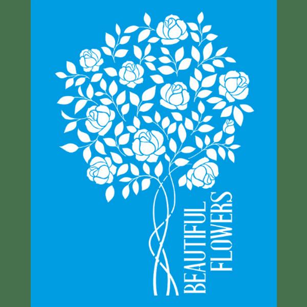 Stencil-Litocart-25x20-LSG-021-Beautiful-Flowers