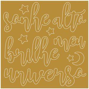 Aplique-em-Acrilico-Dourado-Litoarte-9X9cm-APA-007-Meu-Universo