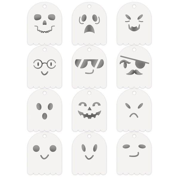 Kit-Stencil-Mini-Litoarte-STMI-025-Halloween-Fantasmas-12-unidades