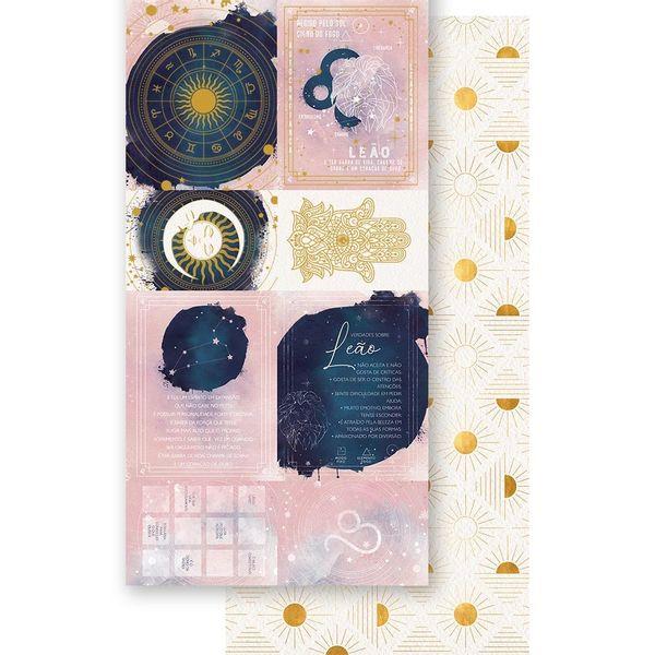 Papel-Scrapbook-Litoarte-15x295cm-SDH-005-Signo-Leao