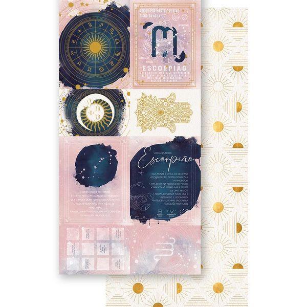 Papel-Scrapbook-Litoarte-15x295cm-SDH-008-Signo-Escorpiao