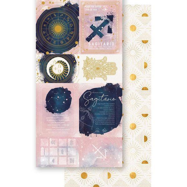 Papel-Scrapbook-Litoarte-15x295cm-SDH-009-Signo-Sagitario