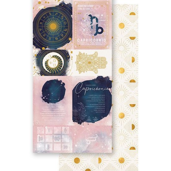 Papel-Scrapbook-Litoarte-15x295cm-SDH-010-Signo-Capricornio