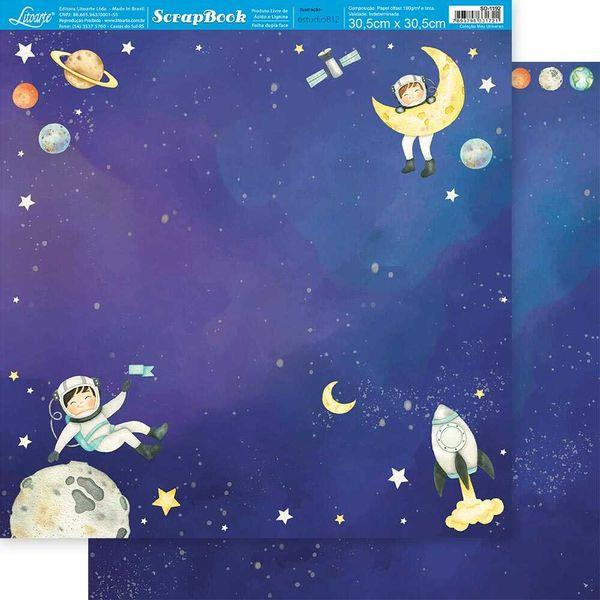 Papel-Scrapbook-Litoarte-305x305cm-SD-1192-Menino-na-Lua