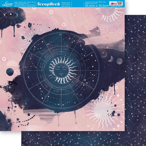Papel-Scrapbook-Litoarte-305x305cm-SD-1198-Sol-e-Constelacoes