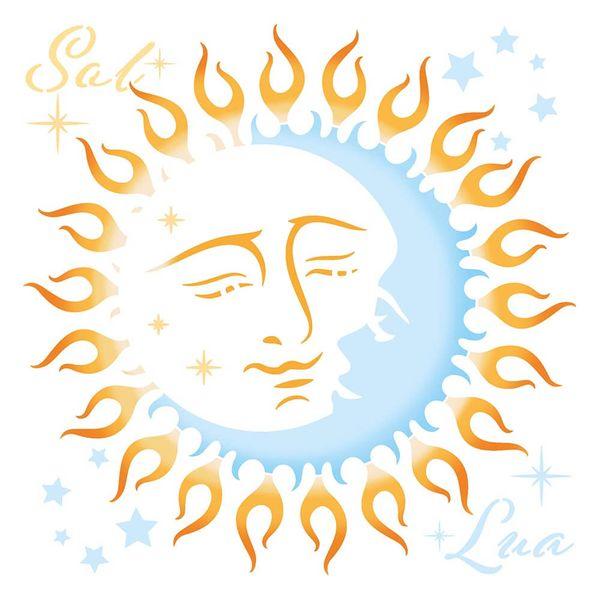 Stencil-Litoarte-20x20cm-STXX-207-Sol-e-Lua