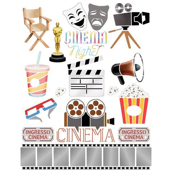 Stencil-Litoarte-20x25cm-STR-196-Cinema