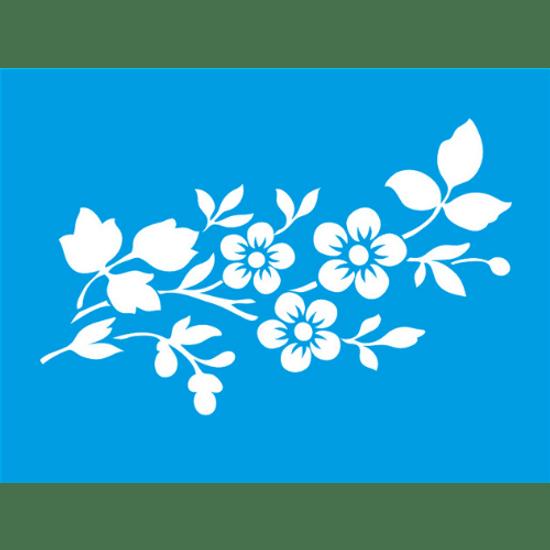 Stencil-Litocart-20x15-LSM-019-Flores-5-Petalas