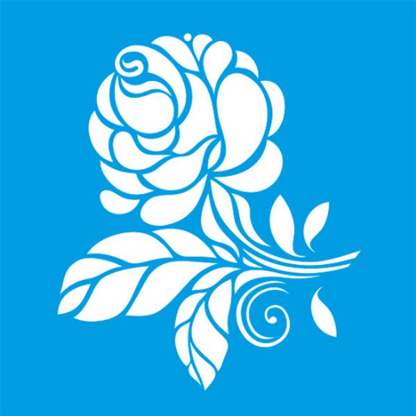 Stencil-Litocart-14x14-LSP-015-Rosa-Flor