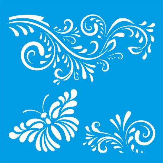 Stencil-Litocart-20x20-LSQ-013-Arabesco-e-Borboleta
