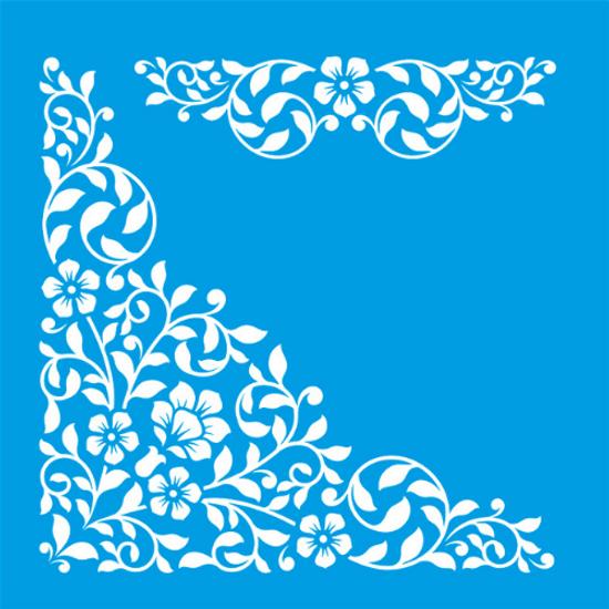 Stencil-Litocart-20x20-LSQ-010-Cantoneira-Floral
