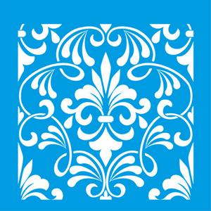Stencil-Litocart-20x20-LSQ-032-Azulejo-Colonial