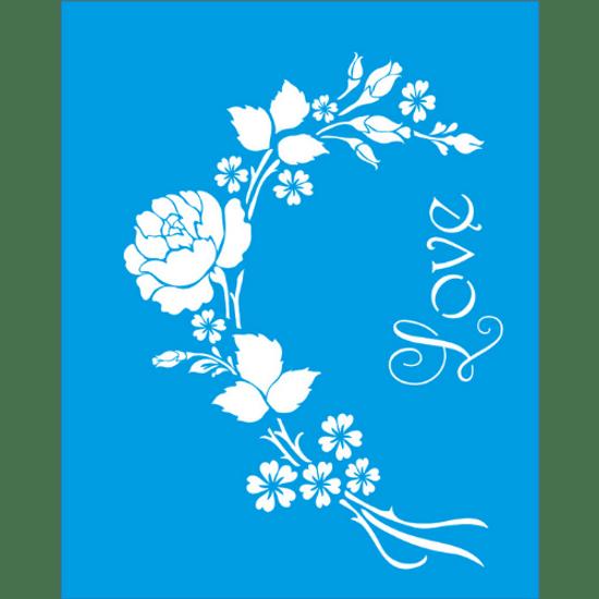 Litocart-25x20-LSG-Stencil-037-Rosas-Love