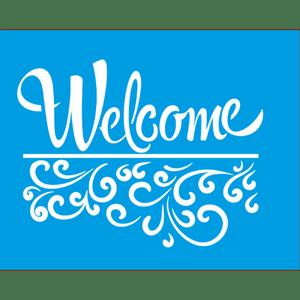 Stencil-Litocart-25x20-LSG-041-Welcome-e-Arabesco