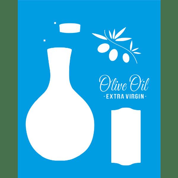 Stencil-Litocart-25x20-LSG-072-Olive-Oil-Extra-Virgin