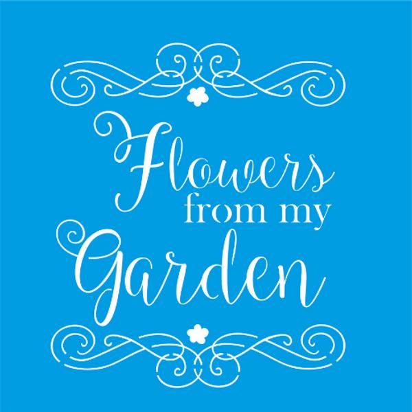 Stencil-Litocart-20x20-LSQ-048-Flowers-From-My-Garden