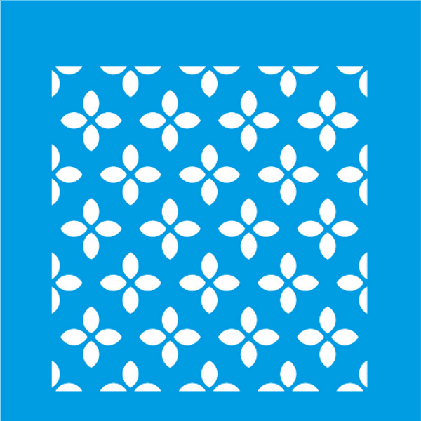 Stencil-Litocart-14x14-LSP-039-Azulejo-Flores