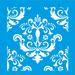 Stencil-Litocart-14x14-LSP-046-Azulejo-Flores