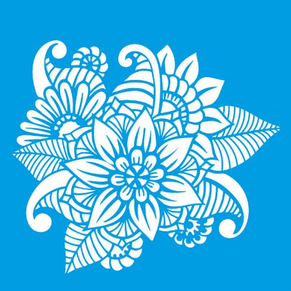 Stencil-Litocart-14x14-LSP-055-Flores-Ornamentais