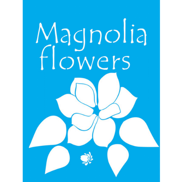 Stencil-Litocart-20x15-LSM-077-Magnolia-Flowers