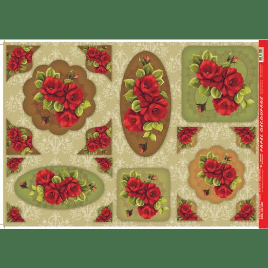 Papel-Decoupage-Litocart-34x48cm-LD-440-Rosas-Vermelhas