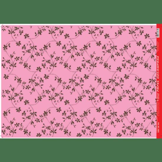 Papel-Decoupage-Litocart-34x48cm-LD-452-Flores-Delicadas