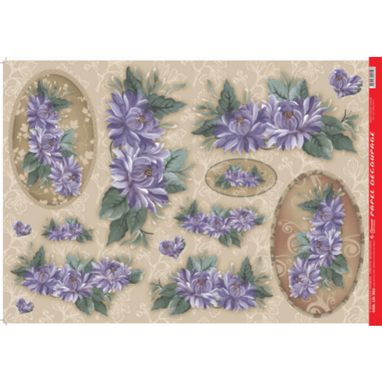 Papel-Decoupage-Litocart-34x48cm-LD-502-Flores-Roxa