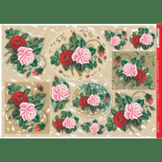 Papel-Decoupage-Litocart-34x48cm-LD-689-Rosas