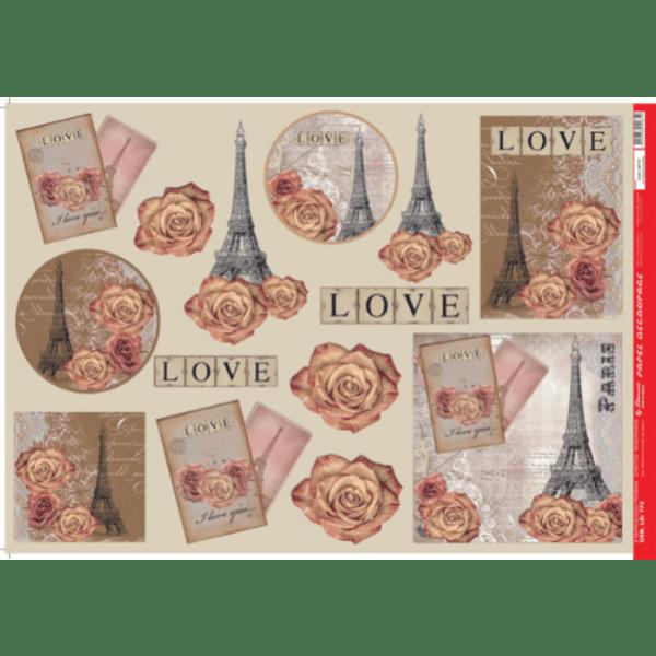 Papel-Decoupage-Litocart-34x48cm-LD-772-Love-Paris