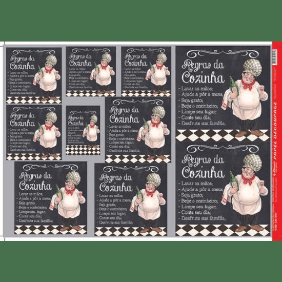 Papel-Decoupage-Litocart-34x48cm-LD-857-Regras-da-Cozinha