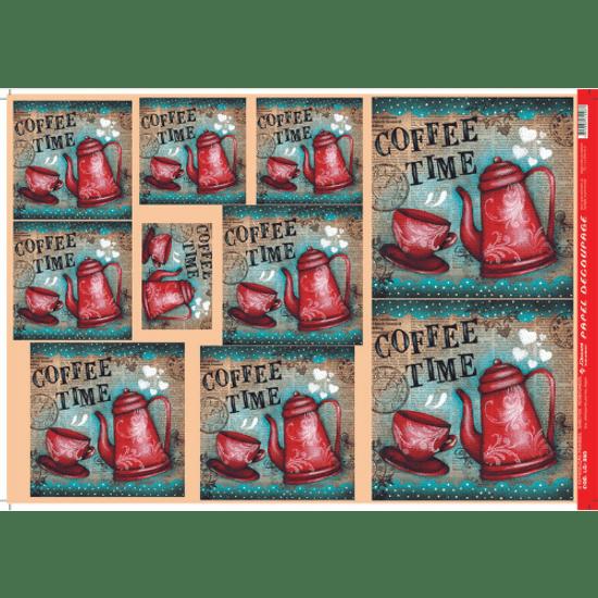 Papel-Decoupage-Litocart-34x48cm-LD-860-Coffee-Time