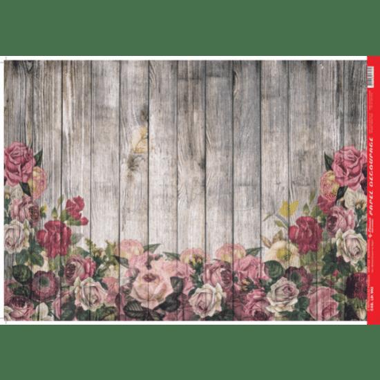 Papel-Decoupage-Litocart-34x48cm-LD-902-Madeira-Rosas