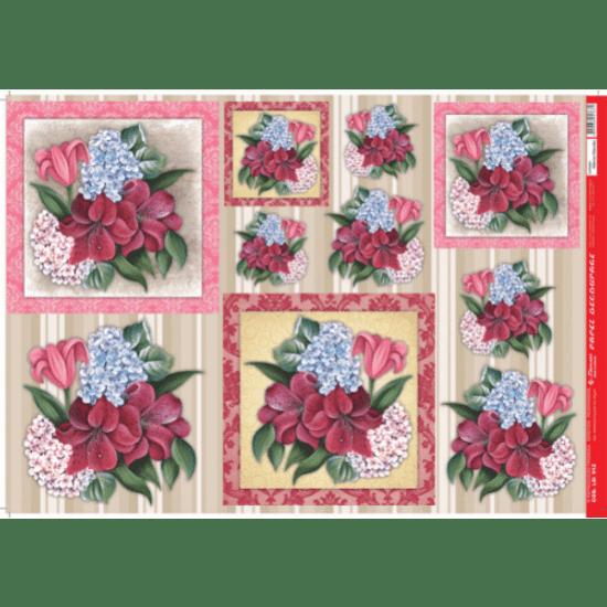Papel-Decoupage-Litocart-34x48cm-LD-912-Flores-Vermelhas