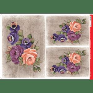 Papel-Decoupage-Litocart-34x48cm-LD-913-Rosas-e-Amor-Perfeito